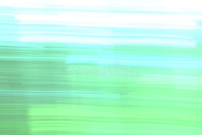Abstrakcjonistyczna miękka część zamazywał tło z błękita, zieleni i bielu kolorami, royalty ilustracja
