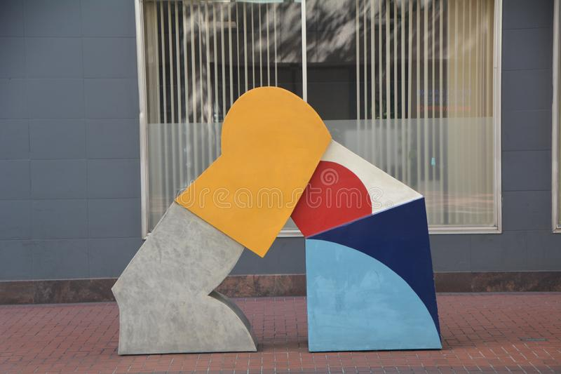 Abstrakcjonistyczna Modernistyczna Uliczna sztuka w Portland, Oregon zdjęcie stock