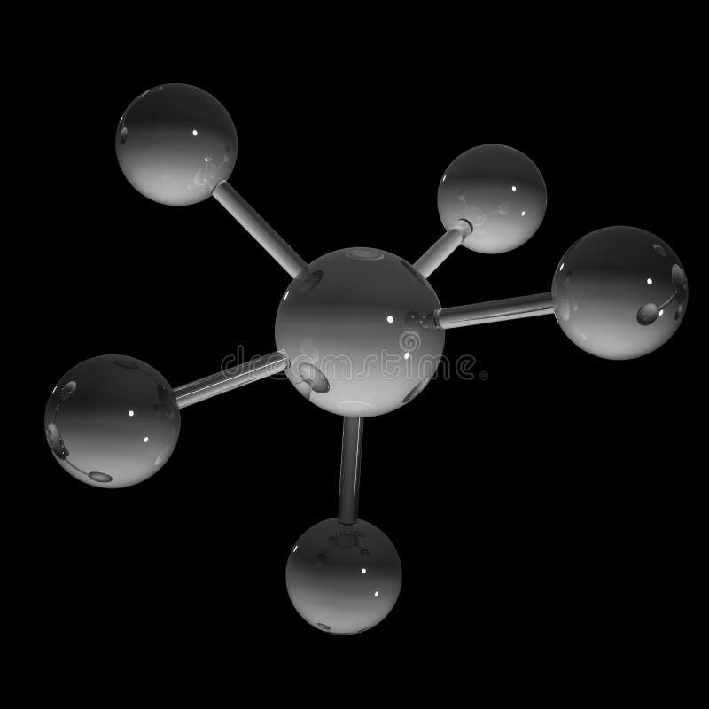 Abstrakcjonistyczna molekuła - 3D ilustracja obrazy stock