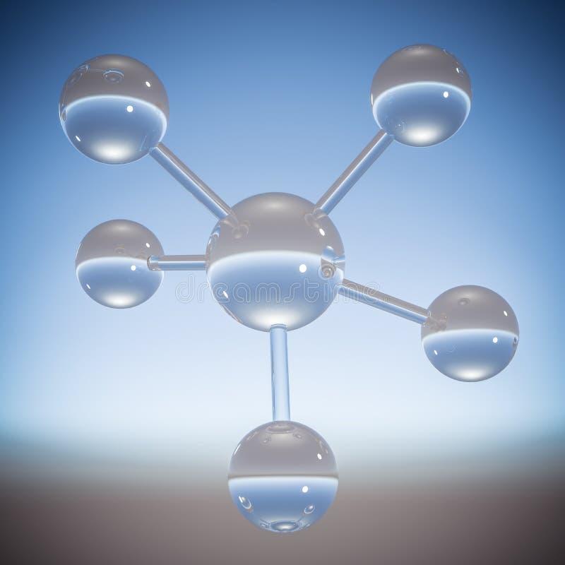 Abstrakcjonistyczna molekuła - 3D ilustracja zdjęcia stock