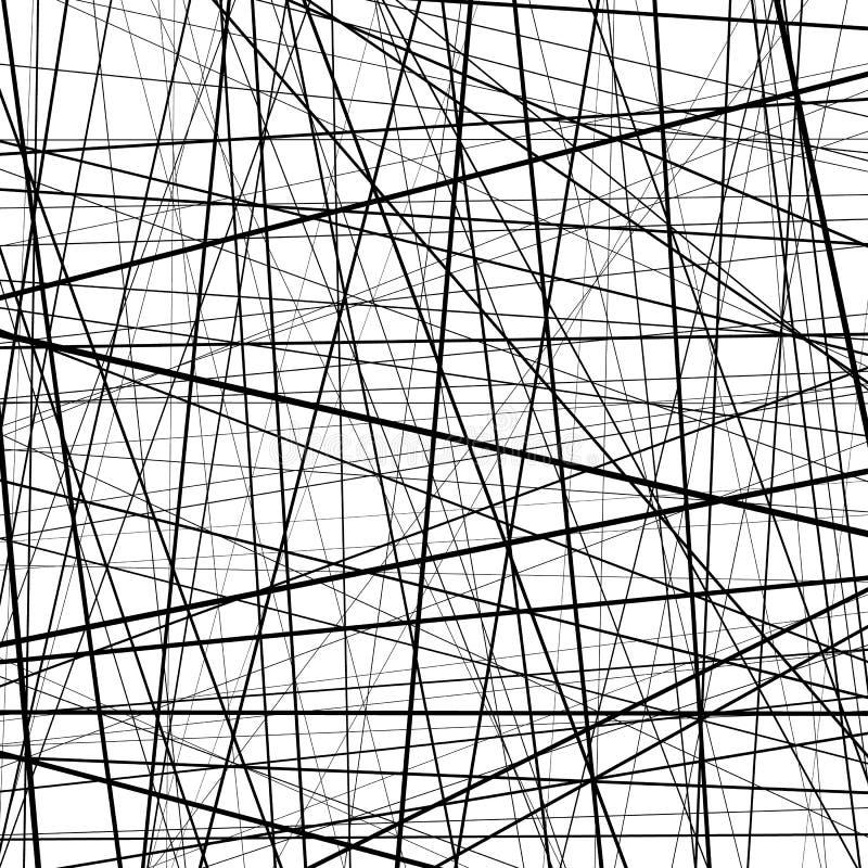 Abstrakcjonistyczna monochromatyczna tekstura z prosto przecinać linie royalty ilustracja