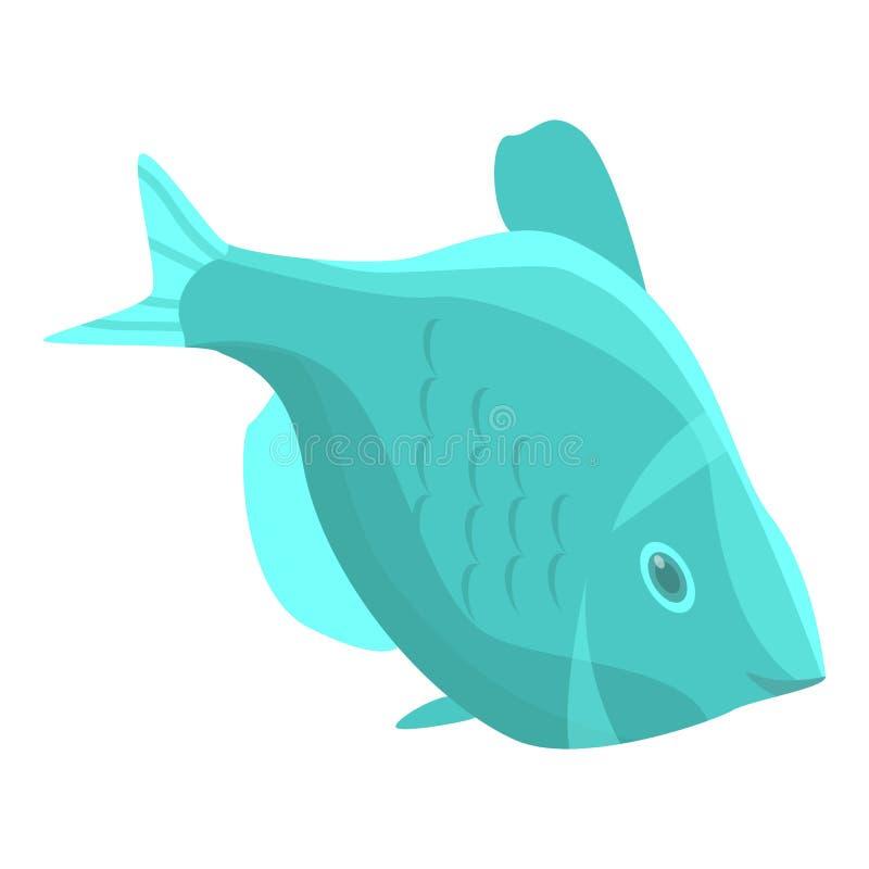 Abstrakcjonistyczna morskiej ryby ikona, isometric styl royalty ilustracja