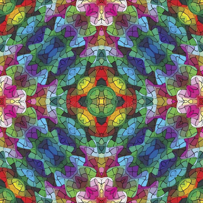 abstrakcjonistyczna mozaika ilustracji
