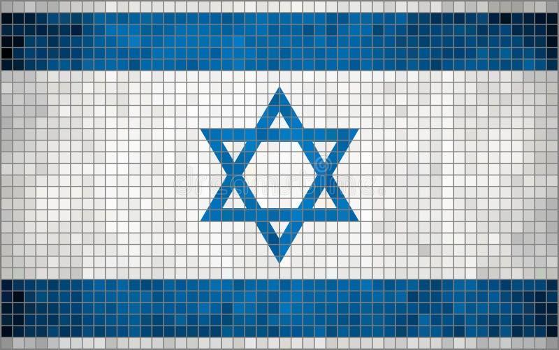Abstrakcjonistyczna mozaiki flaga Izrael ilustracja wektor
