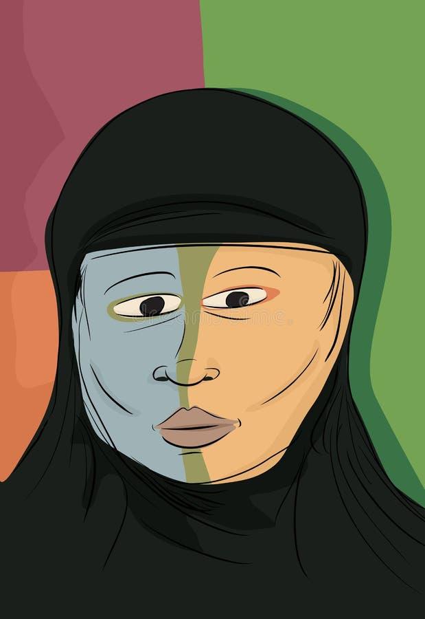 Abstrakcjonistyczna Muzułmańska kobieta ilustracji