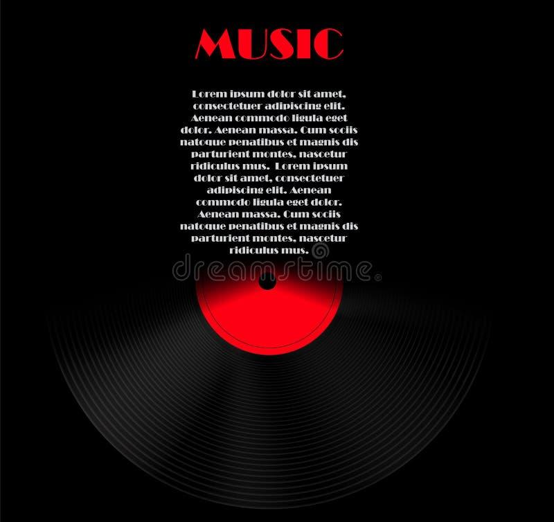 Abstrakcjonistyczna muzyczna tła wektoru ilustracja dla royalty ilustracja