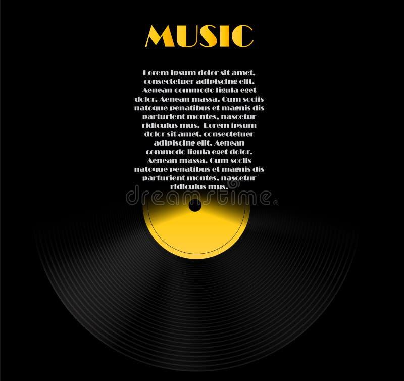 Abstrakcjonistyczna muzyczna tła wektoru ilustracja dla ilustracji