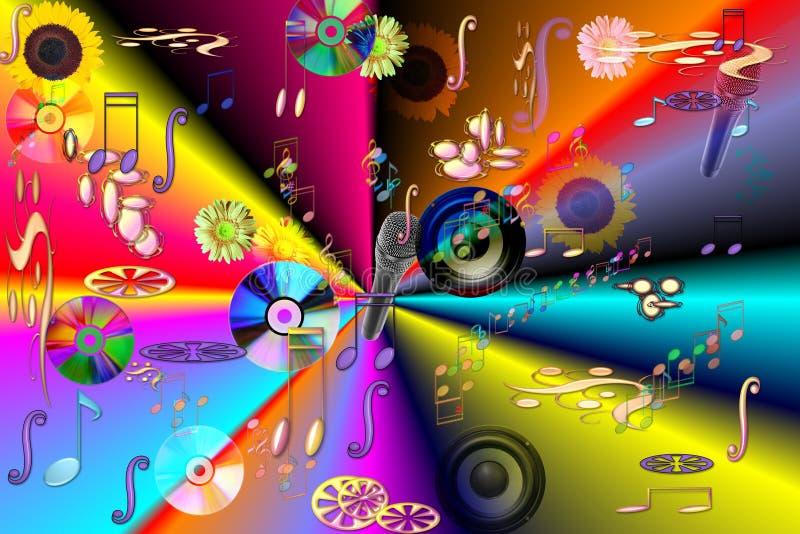 abstrakcjonistyczna muzyka ilustracja wektor