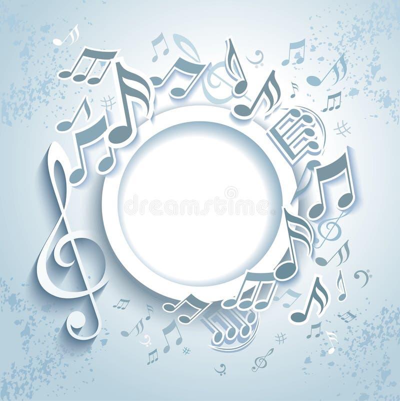 Abstrakcjonistyczna muzyki rama. ilustracja wektor