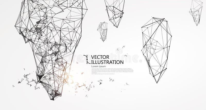 Abstrakcjonistyczna nieregularna grafika ilustracji