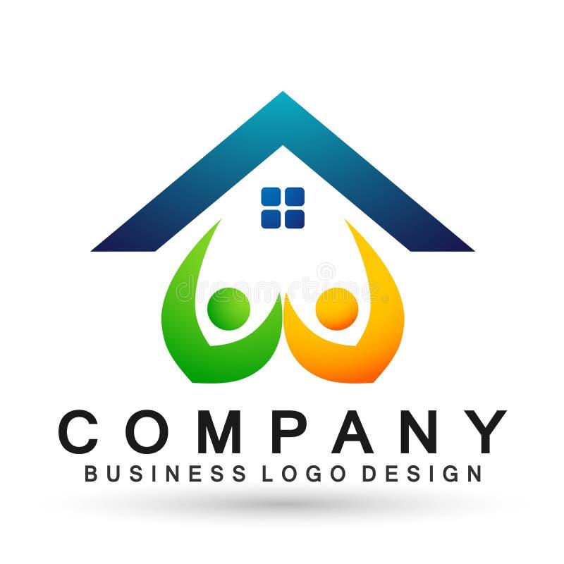 Abstrakcjonistyczna nieruchomo?? domu dachu i domowego logo elementu wektorowa ikona projektuje wektor na bia?ym tle ilustracji