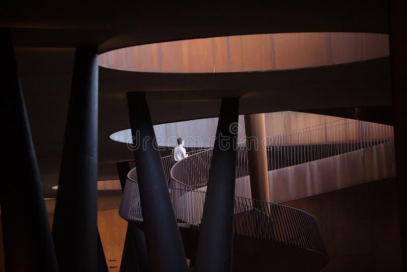 Abstrakcjonistyczna Nowożytna architektura Włochy obraz stock