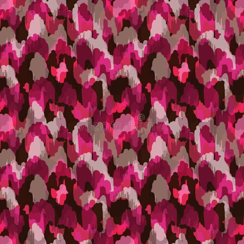 Abstrakcjonistyczna nowożytna jaskrawa różowa bezszwowa sieć lub tkanina ilustracja wektor