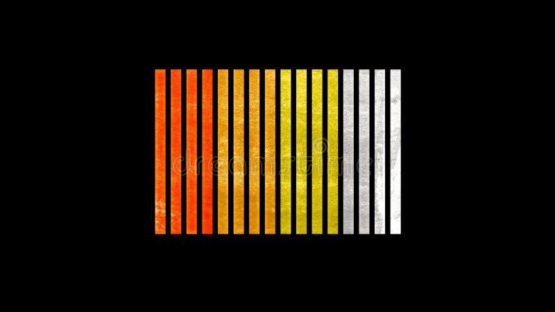 Abstrakcjonistyczna Nowożytna Kreatywnie ilustracja - kolorów bloki textured royalty ilustracja