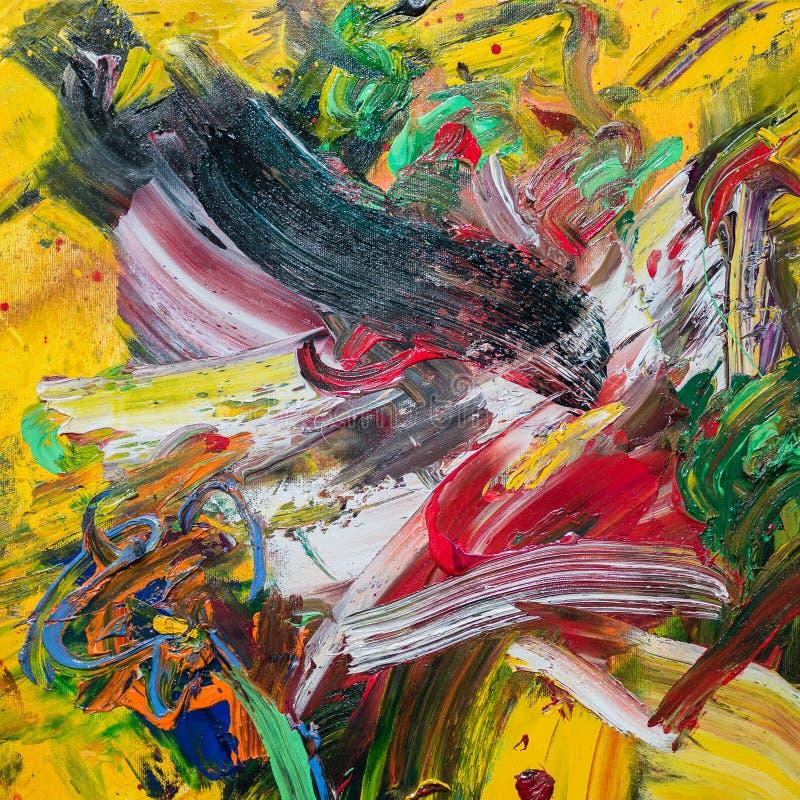 Abstrakcjonistyczna obraz sztuka: Uderzenia z R obrazy stock