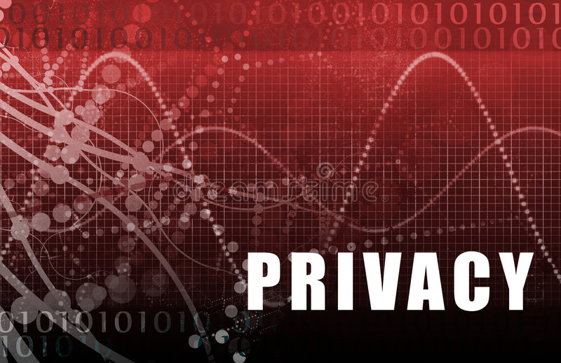 abstrakcjonistyczna online prywatność royalty ilustracja