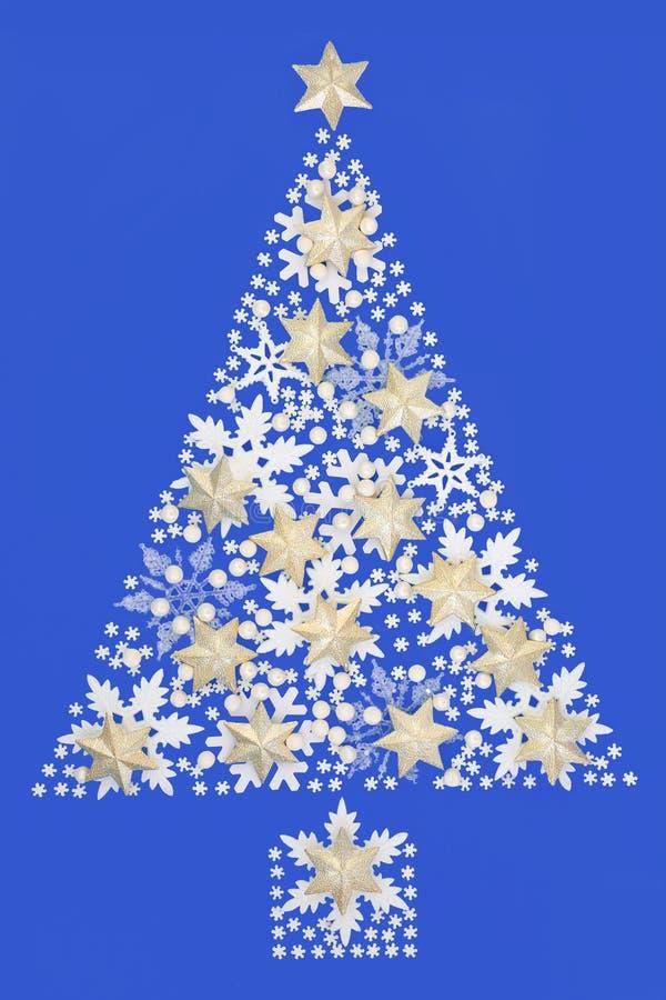 Abstrakcjonistyczna płatek śniegu choinka obraz royalty free