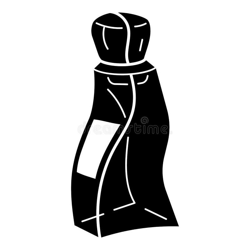 Abstrakcjonistyczna pachnidło butelki ikona, prosty styl ilustracja wektor