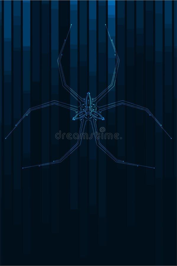 Abstrakcjonistyczna pająk ilustracja ilustracja wektor