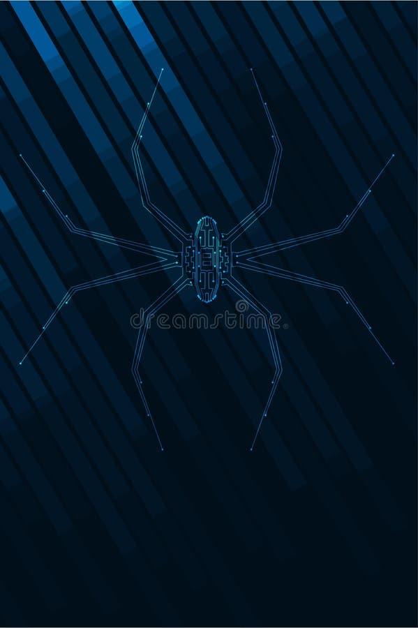 Abstrakcjonistyczna pająk ilustracja royalty ilustracja