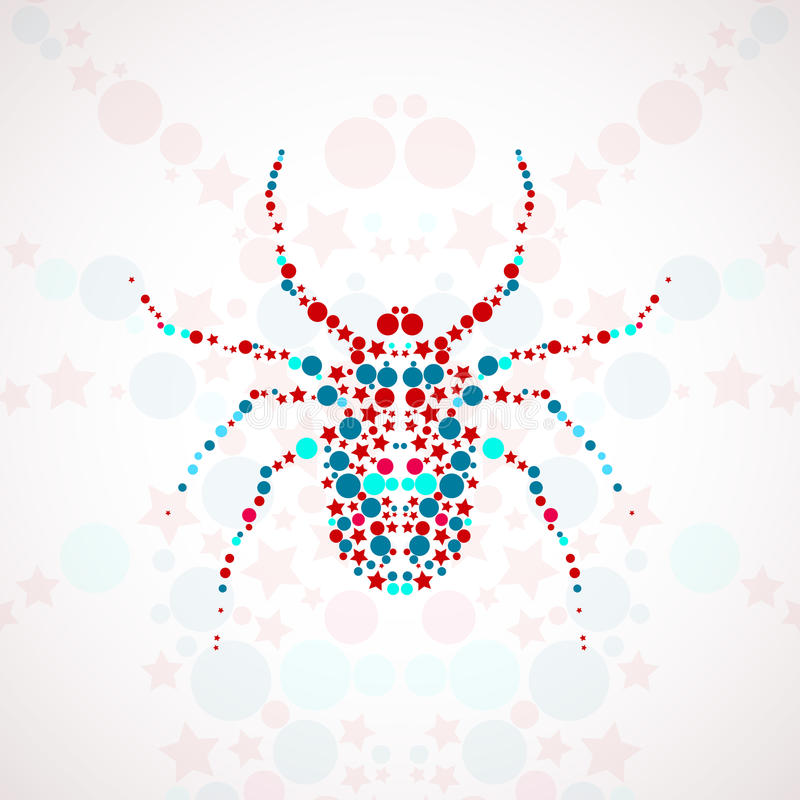 Abstrakcjonistyczna pająk kreskówka royalty ilustracja
