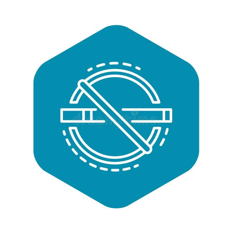 Abstrakcjonistyczna palenie zabronione ikona, konturu styl royalty ilustracja