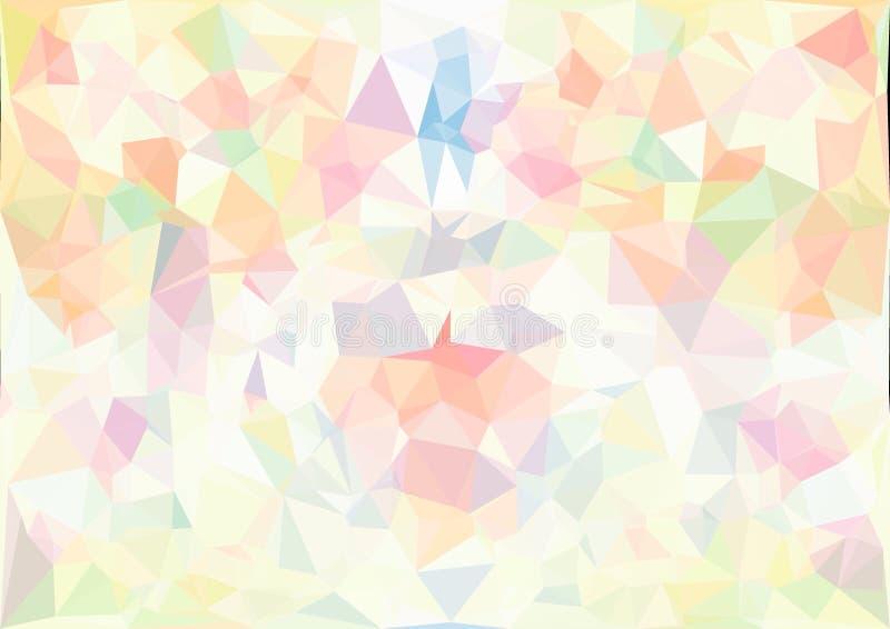 Abstrakcjonistyczna pastelowego koloru bokeh niska poli- tapeta obraz stock