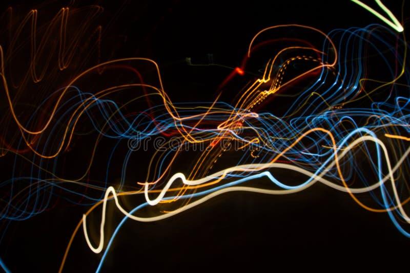 Abstrakcjonistyczna piękna lekka obraz fotografia, fala abstrakta światło na czarnym tle obraz stock