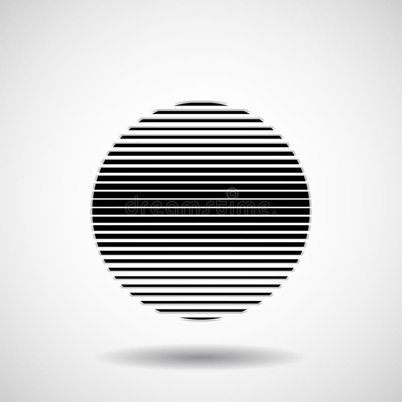 Abstrakcjonistyczna piłka lampasy Linie w kurendy formie ilustracji