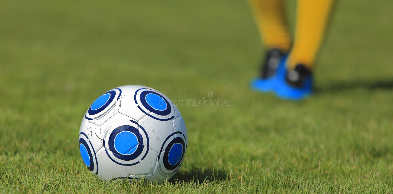 abstrakcjonistyczna piłka nożna obraz stock