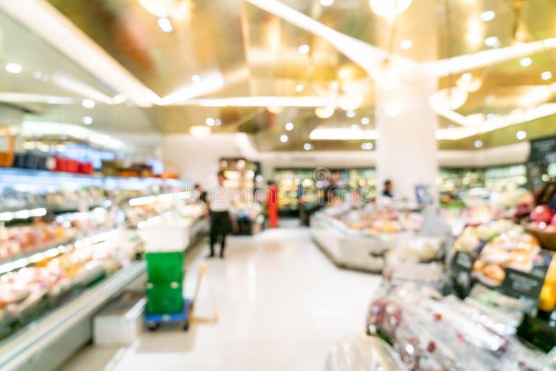 Abstrakcjonistyczna plama w supermarkecie obrazy royalty free