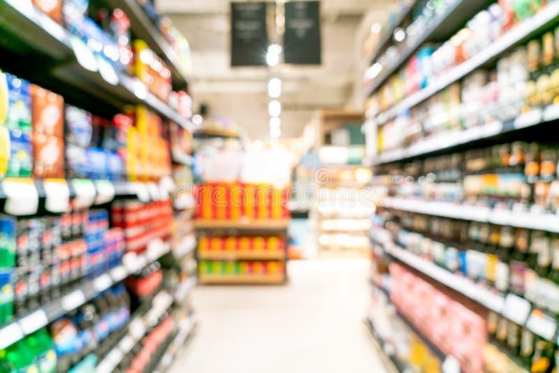 Abstrakcjonistyczna plama w supermarkecie obraz royalty free