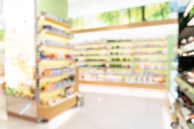 Abstrakcjonistyczna plama w supermarkecie zdjęcia stock