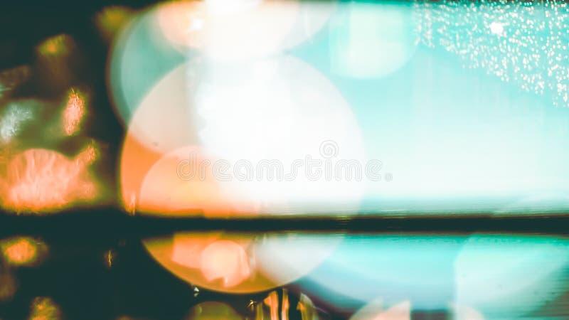 Abstrakcjonistyczna plamy geometria błękitnego pomarańczowego białego czarnego koloru światła okręgu kropki linii składu projekta obrazy stock