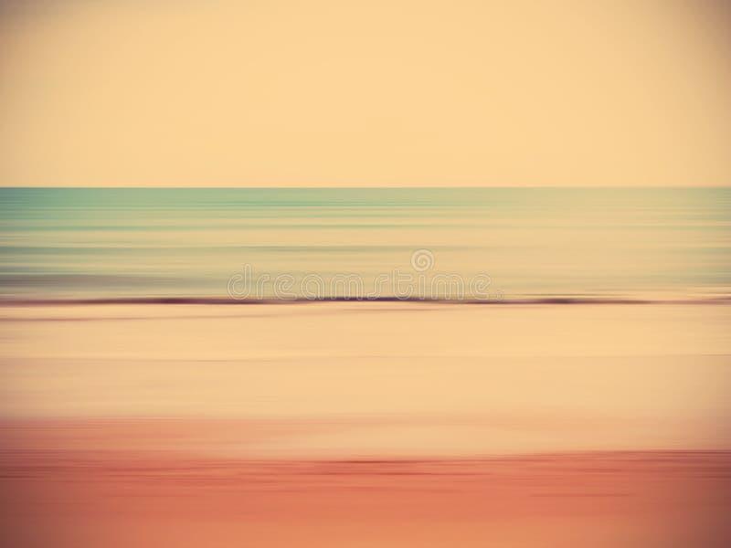 Abstrakcjonistyczna plamy lata plaża obraz stock