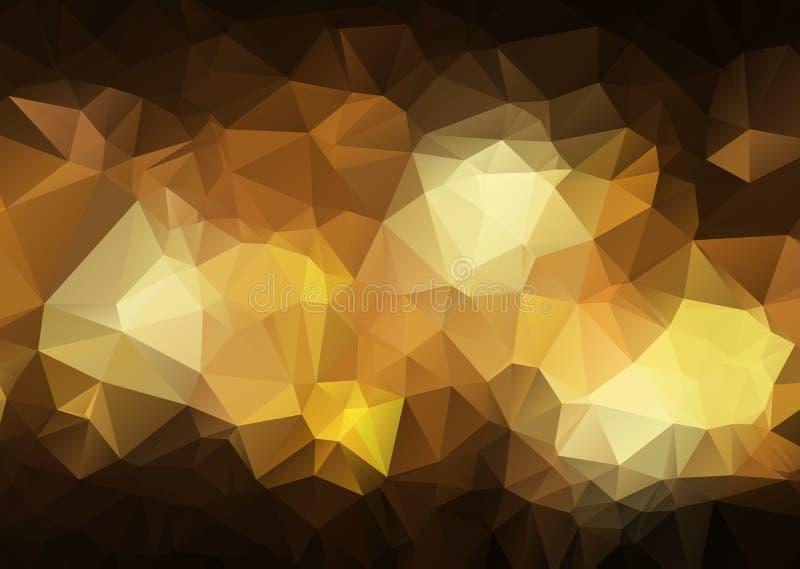 Abstrakcjonistyczna poligonalna ilustracja która składał się trójboki, Geometryczny tło w Origami stylu z gradientem Trójgraniast ilustracja wektor