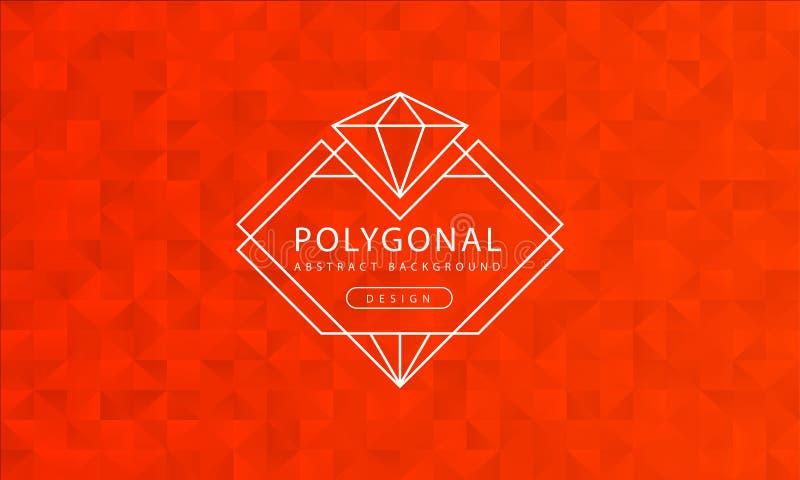 Abstrakcjonistyczna poligonalna pomarańczowa tło tekstura, pomarańczowy textured, sztandaru wieloboka tła, wektorowa ilustracja ilustracja wektor
