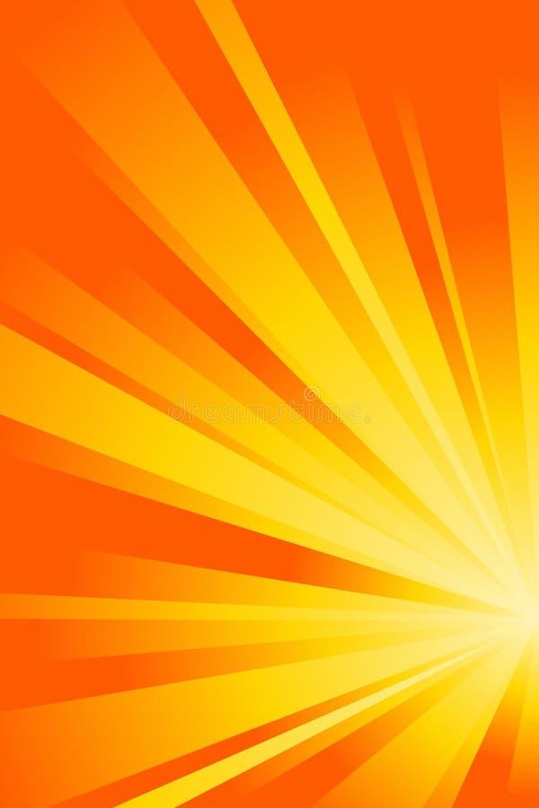abstrakcjonistyczna pomarańcze ilustracja wektor