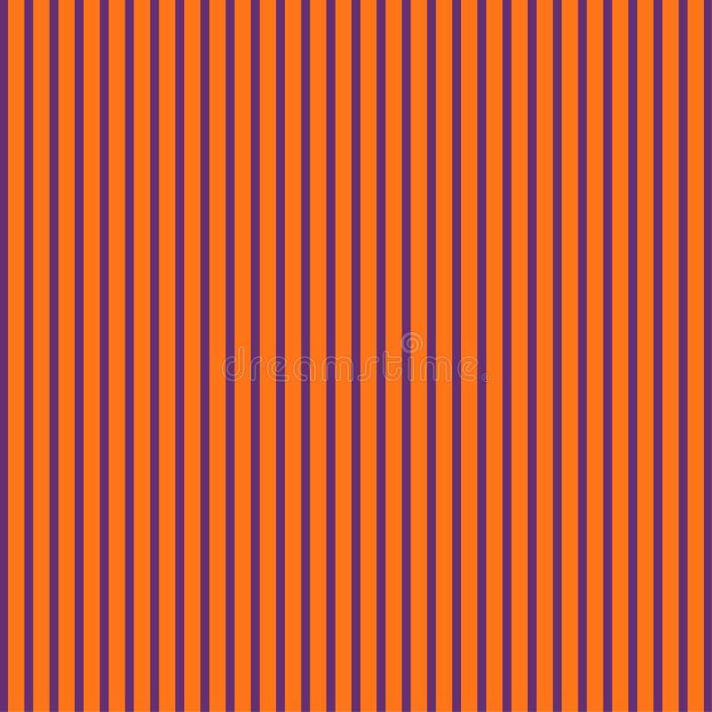 Abstrakcjonistyczna pomarańcze i fiołkowy kolor paskowaliśmy deseniowego tło dla Halloween tematu ilustracji