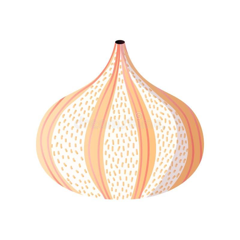 Abstrakcjonistyczna pomarańcze paskująca moda projekta kropkowana waza royalty ilustracja