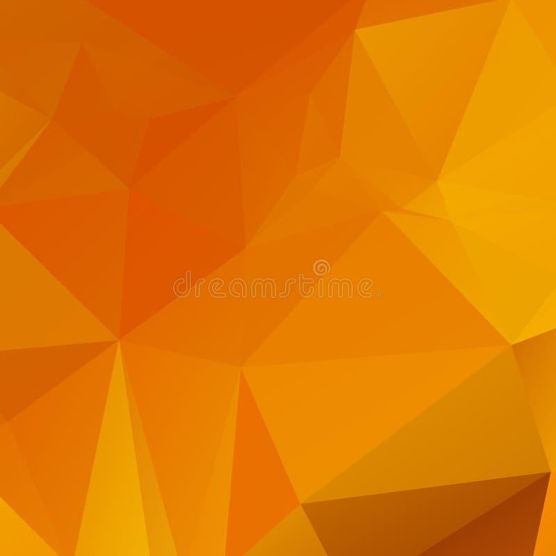 Abstrakcjonistyczna pomarańczowa wielobok tekstura fotografia royalty free