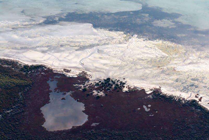 Abstrakcjonistyczna powietrzna fotografia ocean obraz stock