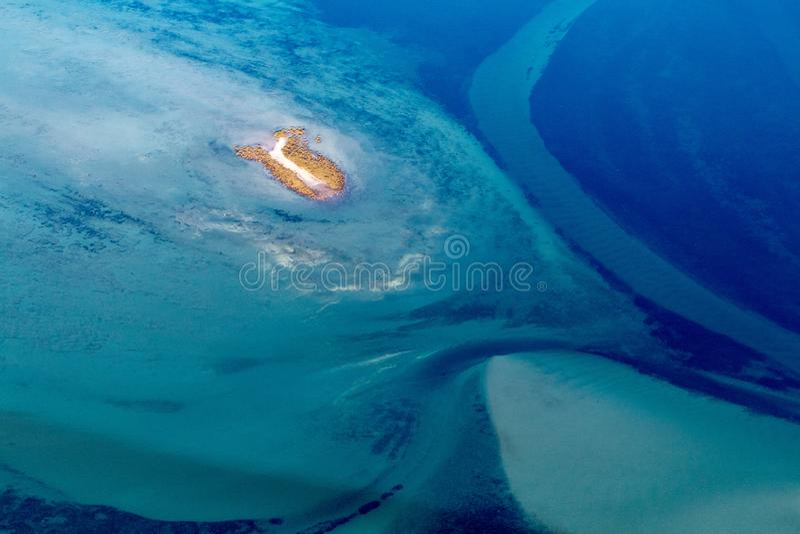Abstrakcjonistyczna powietrzna fotografia ocean zdjęcia stock