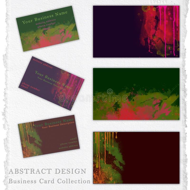 Abstrakcjonistyczna projekt kolekcja dla wizytówka wystroju ilustracji