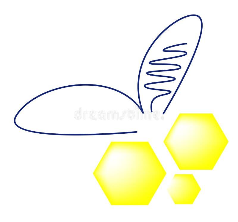 abstrakcjonistyczna pszczoła ilustracja wektor