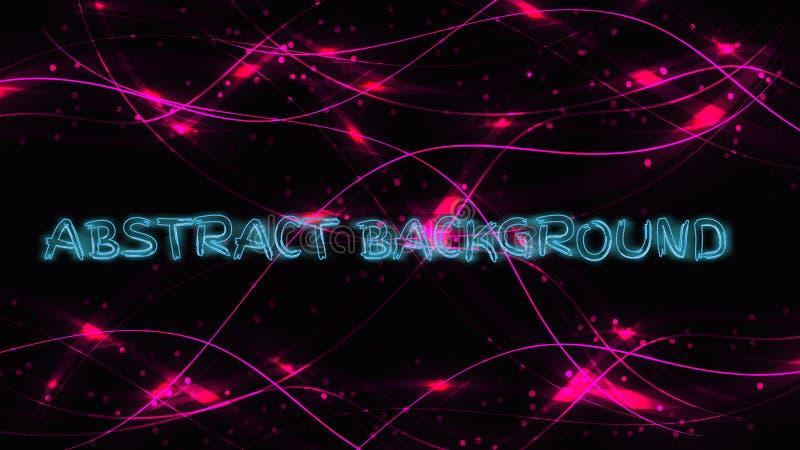 Abstrakcjonistyczna purpurowa tło tekstura od magiczny laserowy piękny cyfrowego rozjarzone płonące ogniste jaskrawe fale linie l royalty ilustracja
