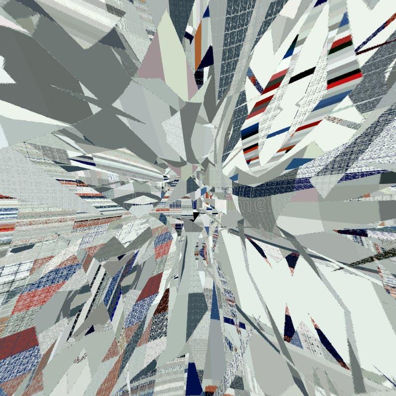 Abstrakcjonistyczna pył karta z skutkiem wybuch ilustracji