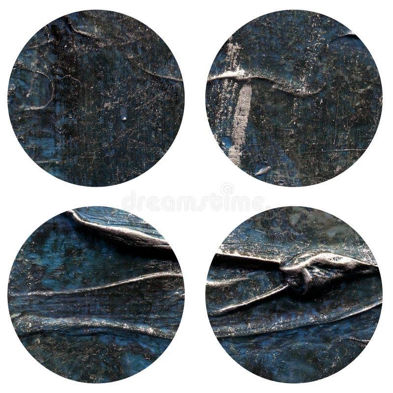 Abstrakcjonistyczna ręka malująca akrylowa okrąg tekstura obraz royalty free