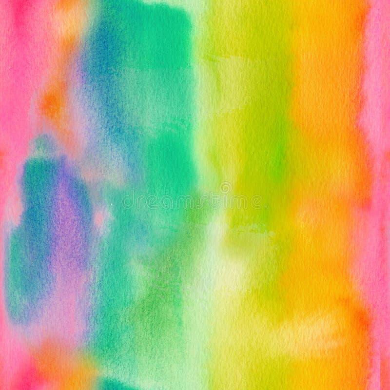 Abstrakcjonistyczna ręka malujący akwareli bezszwowy tło ilustracji