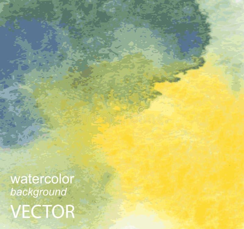 Abstrakcjonistyczna ręka malujący akwareli tło ilustracji